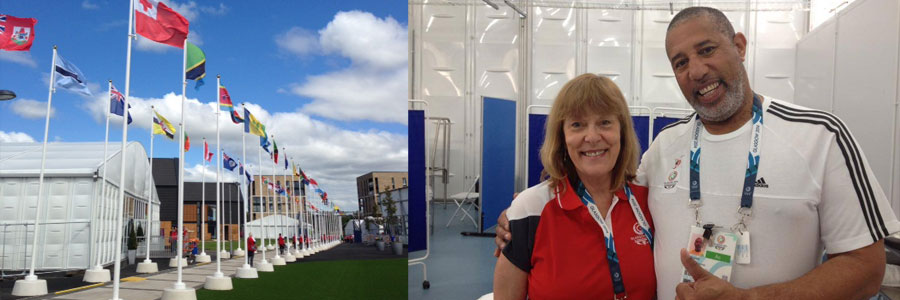 Maggie at the Athletes village